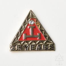 Royal Arch 25 year Anniversary lapel Pin