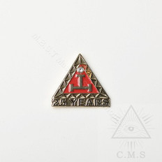 Royal Arch 25 year Anniversary lapel Pin