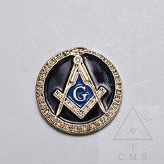 Lapel Pin  Square and Compass plus Ouroboros (Snake)