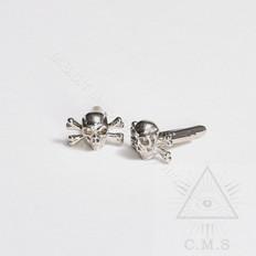 Silver  skull cuff links