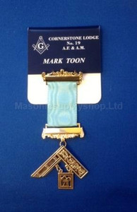 Masonic Name Badge with Jewel