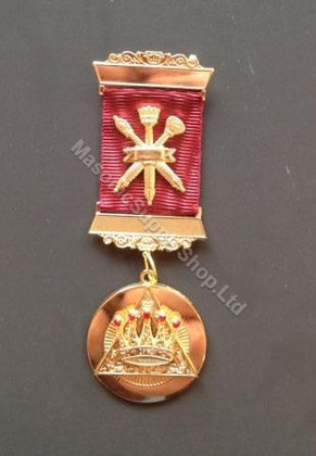 Royal Arch Past Z  2 bar Breast Jewel with Crossed Sceptors