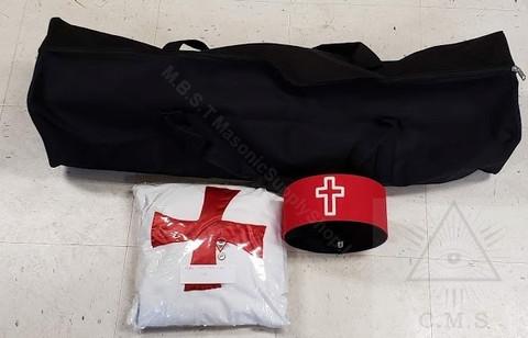 Knight Templar Mantle,Hat & Bag