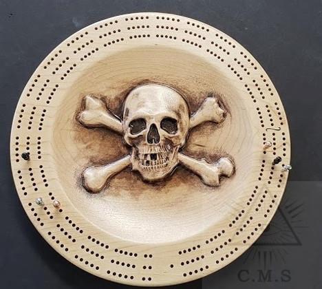 Skull & Crossed Bones Crib Board