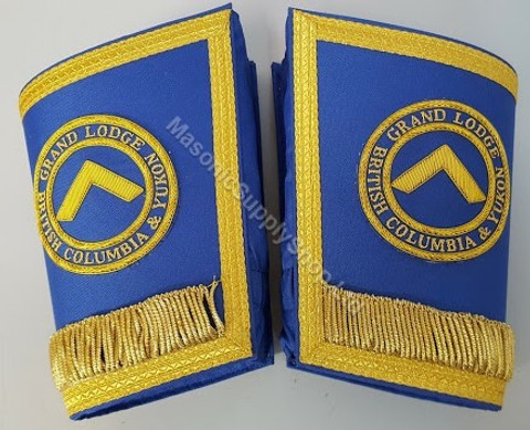 Grand Lodge Officers DDGM Cuffs with Circle and Fringe