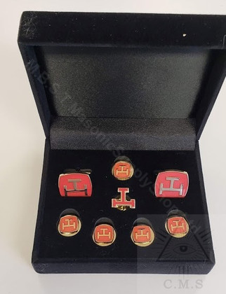 Royal Arch Cuff  Links and 5 Button Cover set  plus Lapel pin ( Tau)