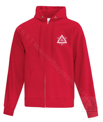 Mortality  Zippered   Fleece Hoodie . Assorted Colours             sizes Small to 4XL!