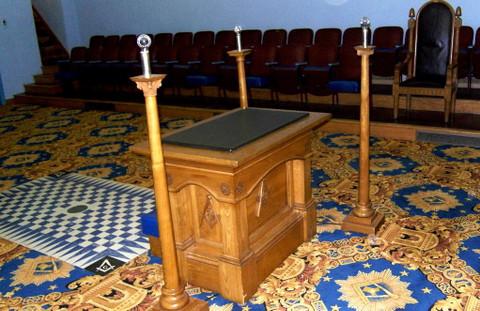 Masonic Altar, Masonic furniture, Masonic columns, Masonic Pillars