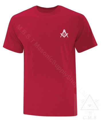 Tee Shirt   Small Square & Compass  Design   Assorted Colours      size Small to  6XL !