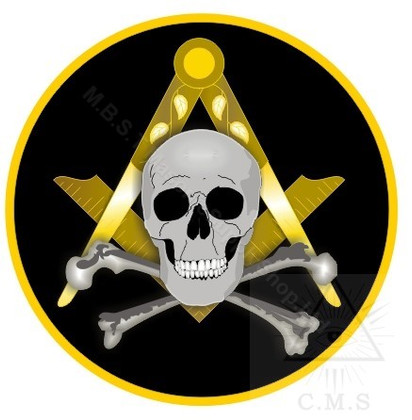 Car Decal  Square and Compass with Skull & Crossed Bones