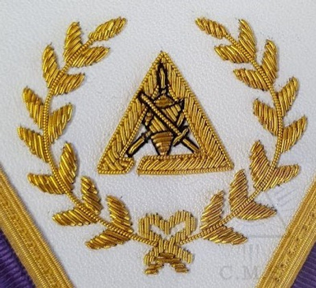 Cryptic Rite Royal & Select Grand Council Aprons with Fringe