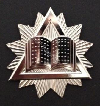 Masonic Chaplain Collar Jewel in Silver Tone