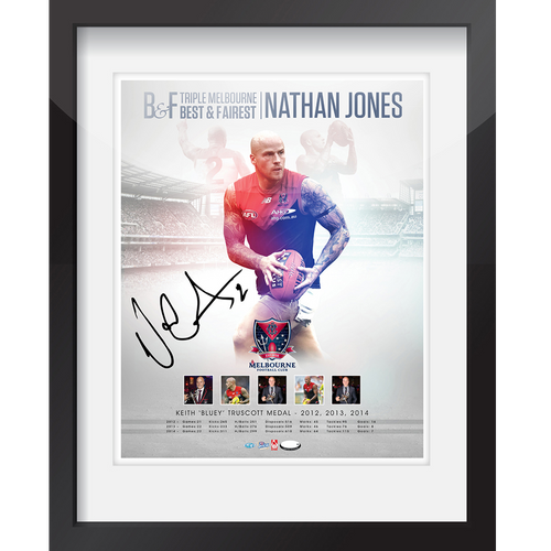 Nathan Jones Triple Best & Fairest Framed Print