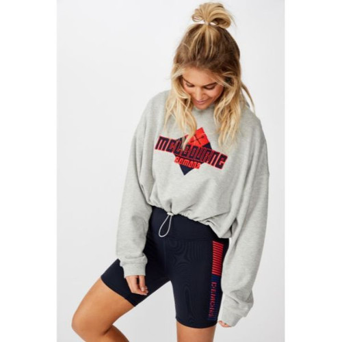 AFLW 2020 Ladies Chopped Gathered Hoodie