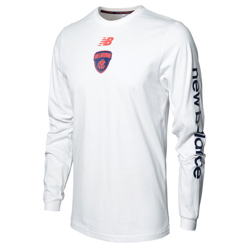 New Balance White Long Sleeve Top