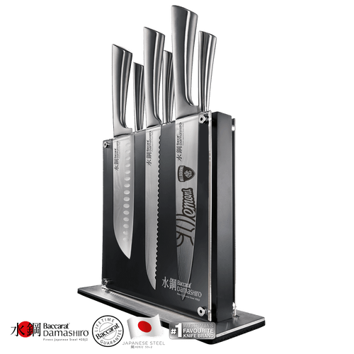 Baccarat Damashiro Kin Knife Block 7 Piece