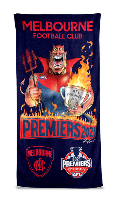 Melbourne Demons Premiers P2 Mark Knight Beach Towel