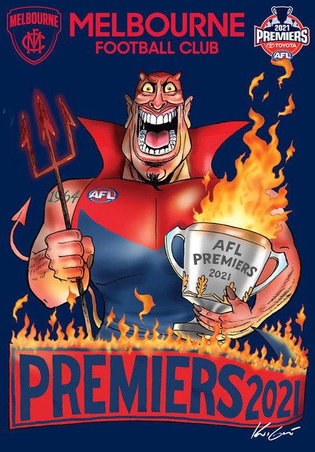 Melbourne Demons Premiers Mark Knight A6 Sticker