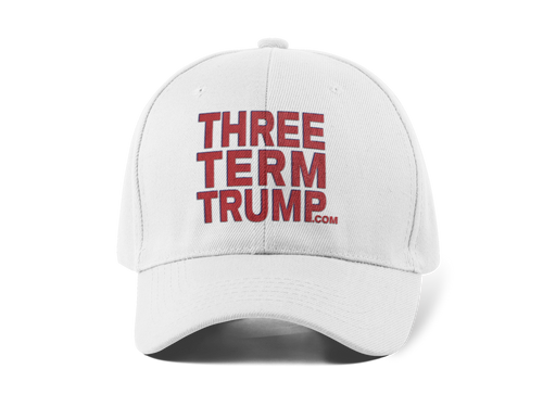Official Three Term Trump™ Baseball Cap #HAT-2W