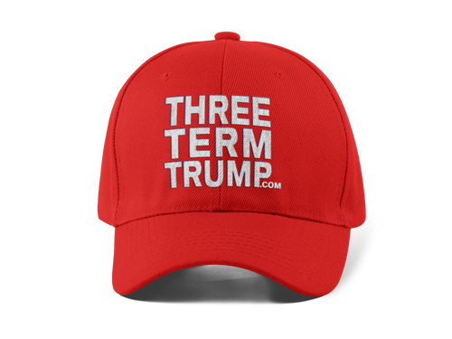 Official Three Term Trump™ Baseball Cap #HAT-2R