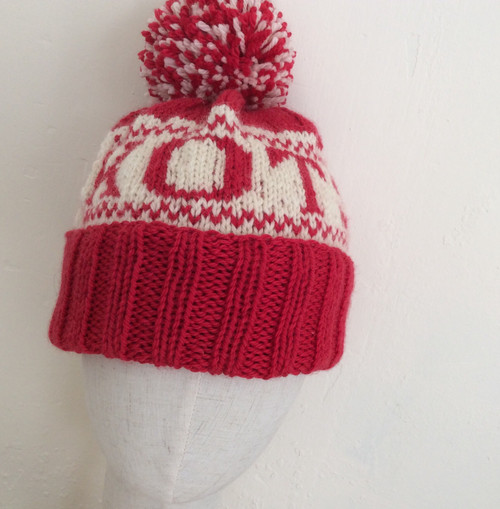 Unique one off KOTS bobble hat. 100% wool. Wash by hand