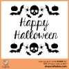 Free happy halloween svg cut files for Cricut, Silhouette, Illustrator, inkscape, t shirts
