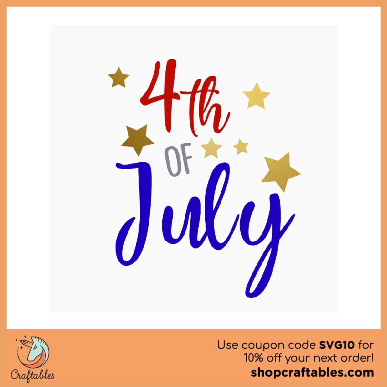Free 4th Of July Svg Cut File Craftables
