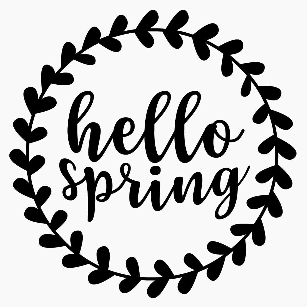 Free Hello Spring Border Svg Cut File Craftables