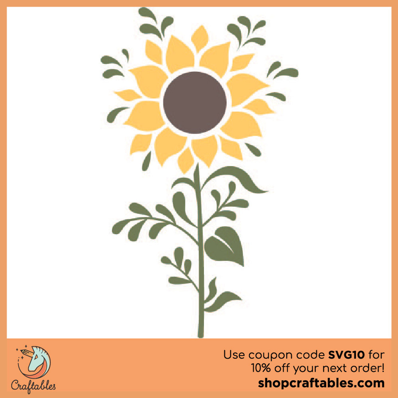 Free Sunflower Svg Cut File Craftables