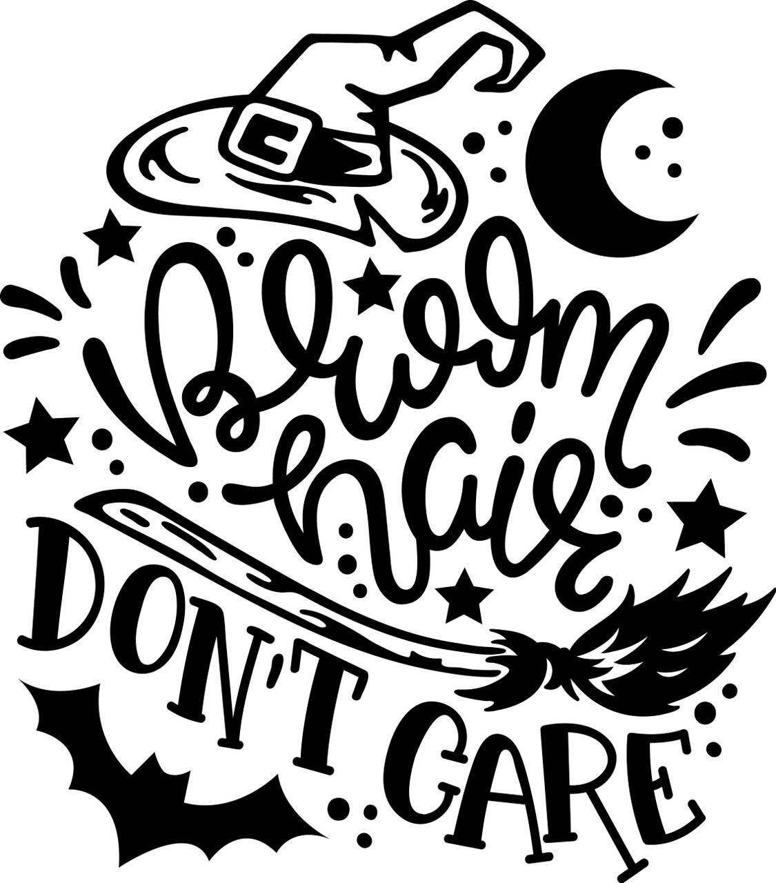 Free Broom Hair Don T Care Svg Cut File Craftables