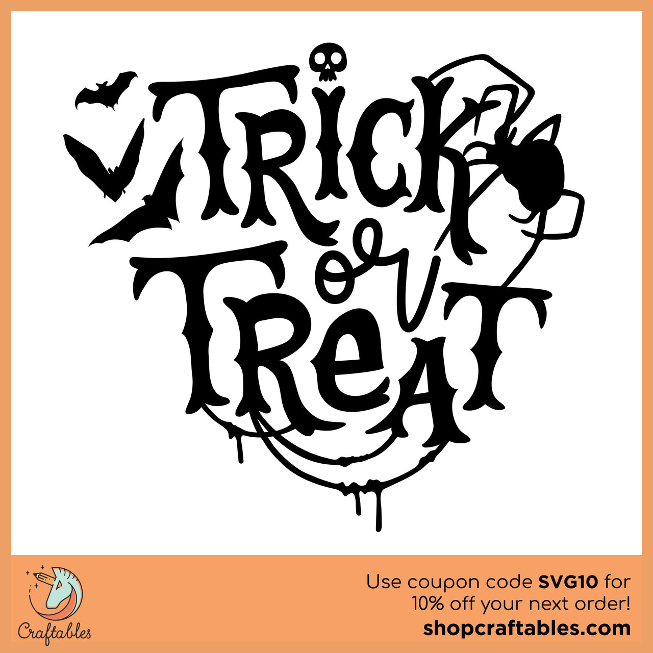 Free Trick Or Treat Svg Cut File Craftables