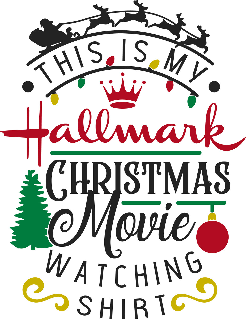Download Free This Is My Hallmark Christmas Movie-Watching Shirt ...