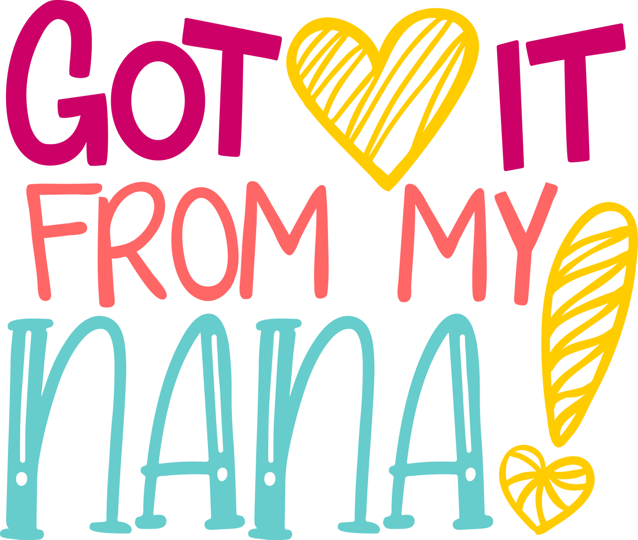Download Free Got it From my Nana SVG Cut File | Craftables