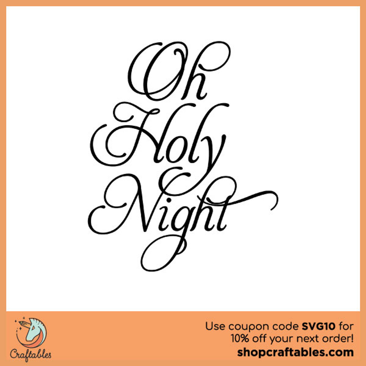 Free Oh Holy Night Svg Cut File Craftables