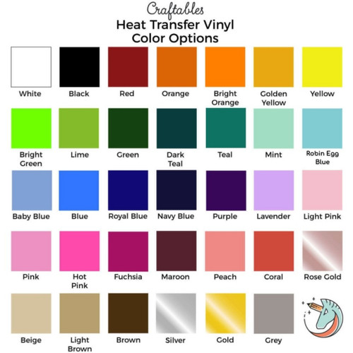 Iron On Vinyl Sheets | Heat Transfer Vinyl for Cricut, Silhouette By Craftables