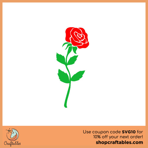 Free single rose svg cut file for Cricut, Silhouette, Illustrator, inkscape, t shirts