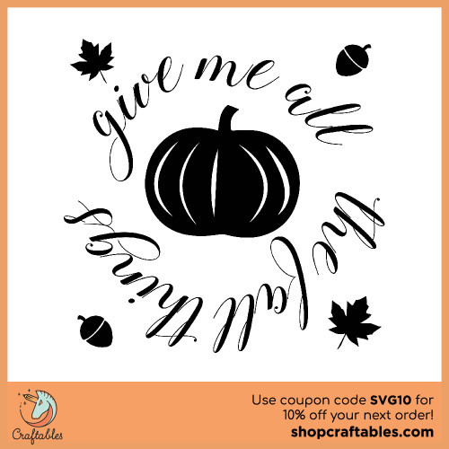 Free all things fall svg cut files for Cricut, Silhouette, Illustrator, inkscape,t shirts