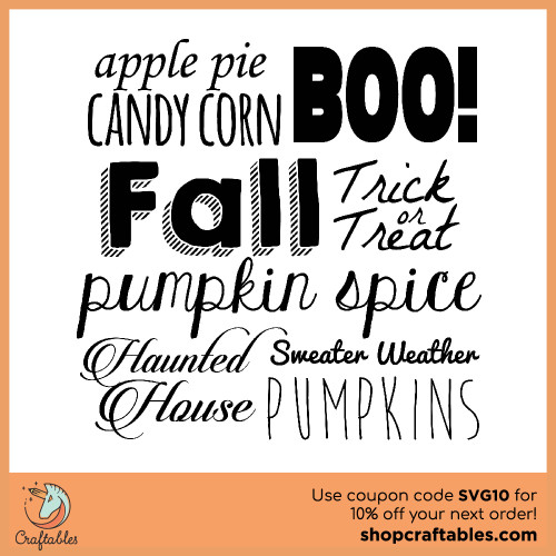 Free fall words svg cut files for Cricut, Silhouette, Illustrator, inkscape,t shirts