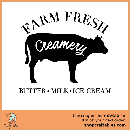 Free farm fresh creamery svg cut files for Cricut, Silhouette, Illustrator, inkscape,t shirts