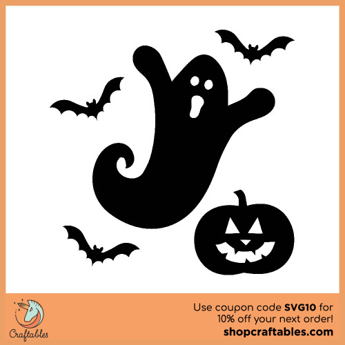 Free spooky ghost svg cut files for Cricut, Silhouette, Illustrator, inkscape, t shirts