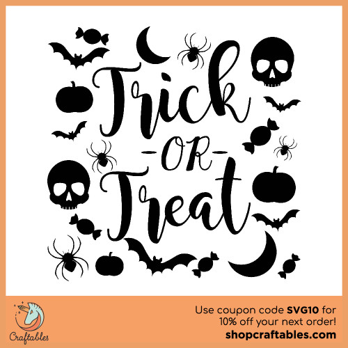 Free trick or treat svg cut files for Cricut, Silhouette, Illustrator, inkscape, t shirts