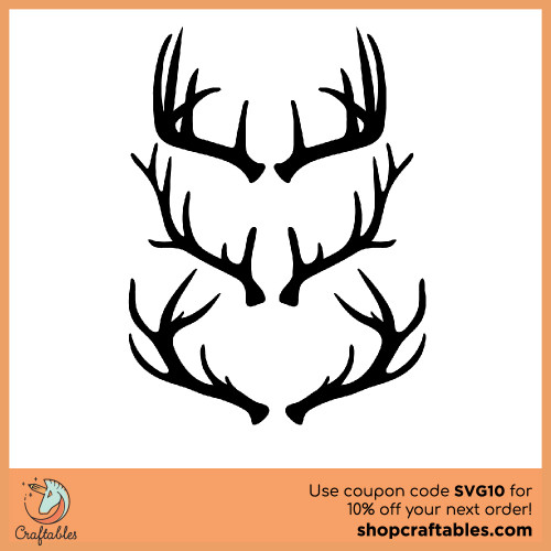 Free Antlers SVG Cut Files for Cricut, Silhouette, Illustrator, inkscape, t shirts