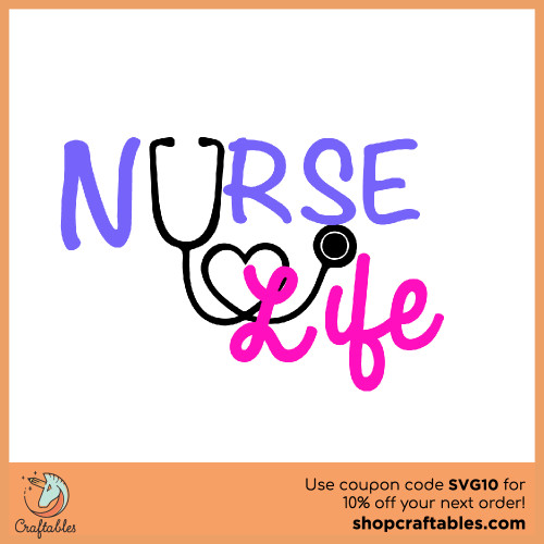 Free Nurse-Life SVG Cut Files for Cricut, Silhouette, Illustrator, inkscape, t shirts