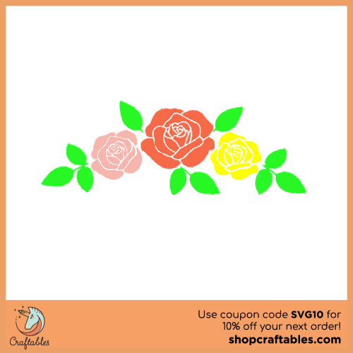 Free Row-Of-Roses SVG Cut Files for Cricut, Silhouette, Illustrator, inkscape, t shirts