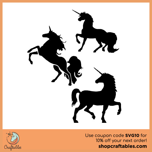 Free Unicorn SVG Cut Files | Craftables for Cricut, Silhouette, Illustrator, inkscape, t shirts