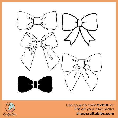 Free Bow SVG Cut File for Cricut, Silhouette, Illustrator, inkscape, t shirts