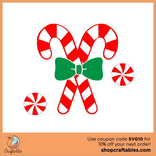 Free Candy Cane SVG Cut File for Cricut, Silhouette, Illustrator, inkscape, t shirts