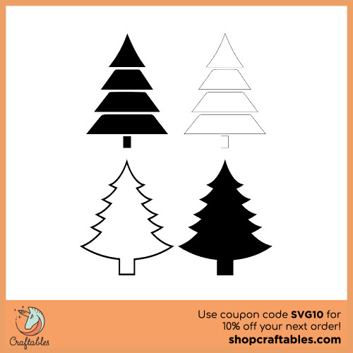 Free Christmas Tree SVG Cut File for Cricut, Silhouette, Illustrator, inkscape, t shirts