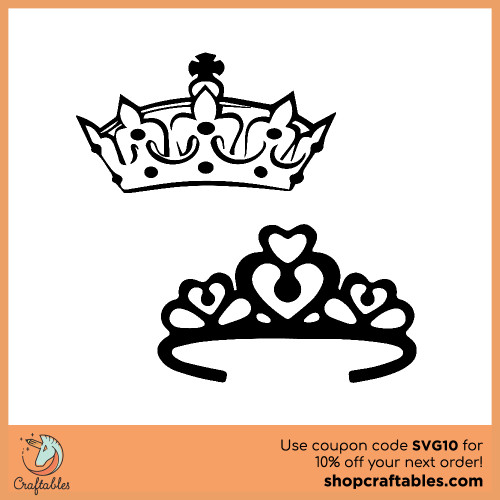 Free crown SVG Cut File for Cricut, Silhouette, Illustrator, inkscape, t shirts