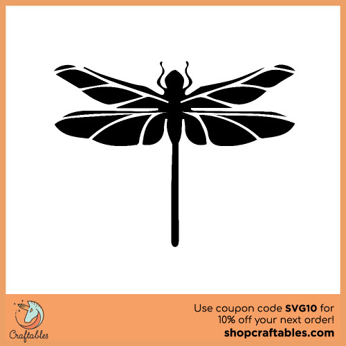 Free dragonfly SVG Cut File for Cricut, Silhouette, Illustrator, inkscape, t shirts